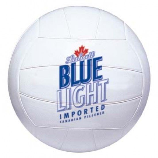 "Custom Logo White Official - 8"" - Volleyball (Synthetic Leather)"