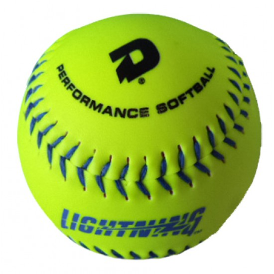 Custom Logo Wilson Official Optic Yellow Synthetic Leather Softball