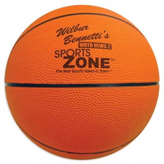 Custom Logo Full Size Rubber Basketball