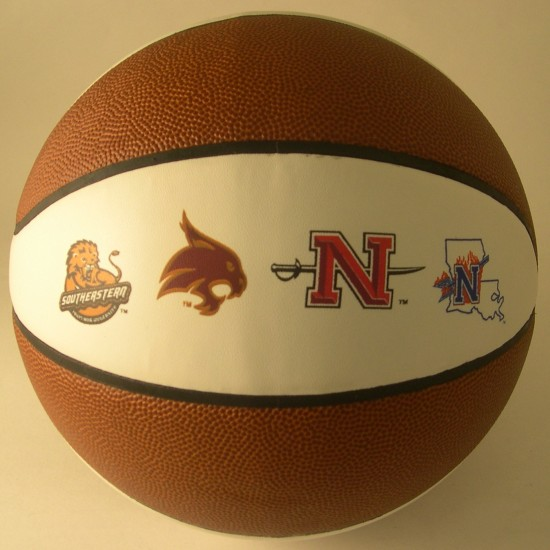 "Custom Logo Intermediate 9"" Synthetic Leather Basketball (Screen Printed)"